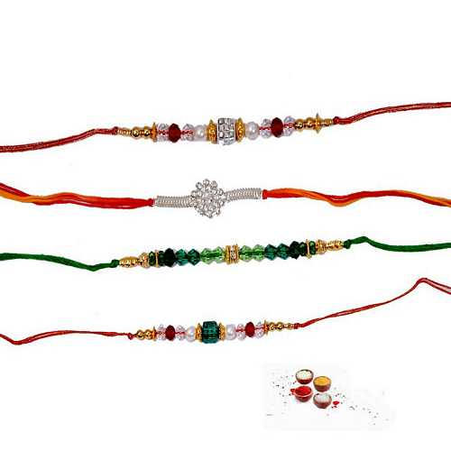 Lovely Set of 4 Fancy Rakhis