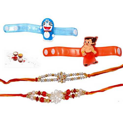 Family Rakhi Set of 4