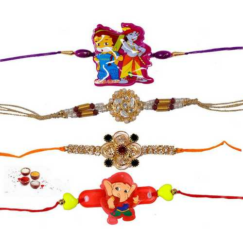 Beautiful Rakhis for 4 Brothers