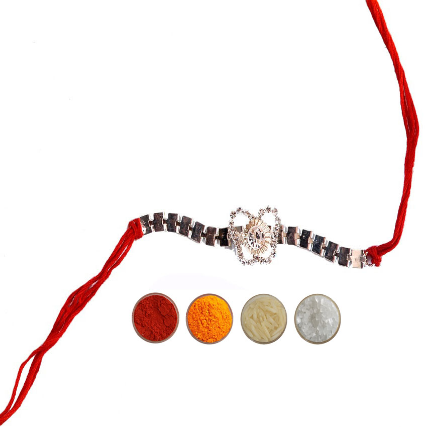 American Diamond Fancy Mauli Rakhi