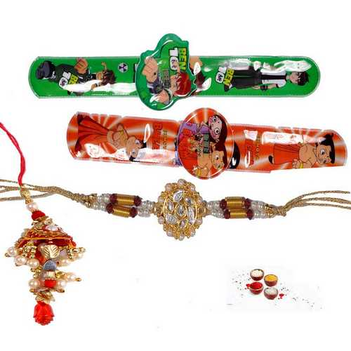 Bhaiya Bhabhi and Kids Rakhi Collection - Set of 4