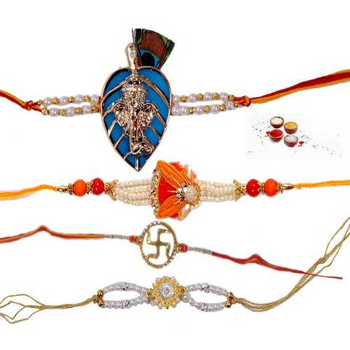 Premium Collection of 4 Rakhis