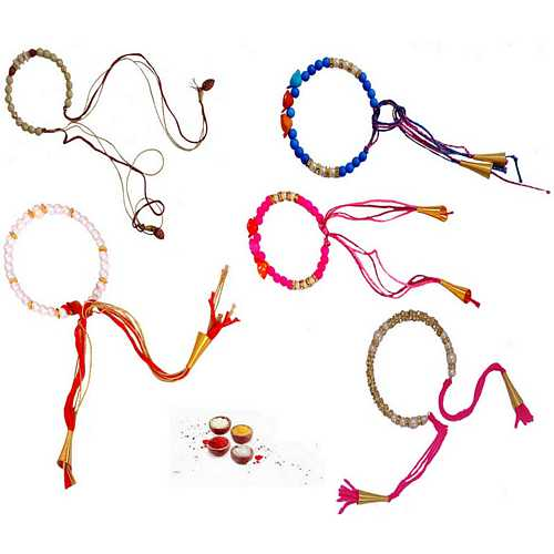 5 Beautiful Beads Rakhis Threads