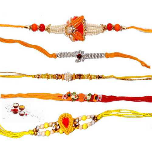 Auspicious Rakhi Threads - Set of 5