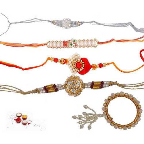 Pearl Rakhis Set of 5