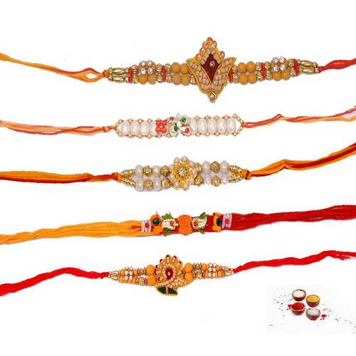Set of 5 Auspicious Rakhi Threads