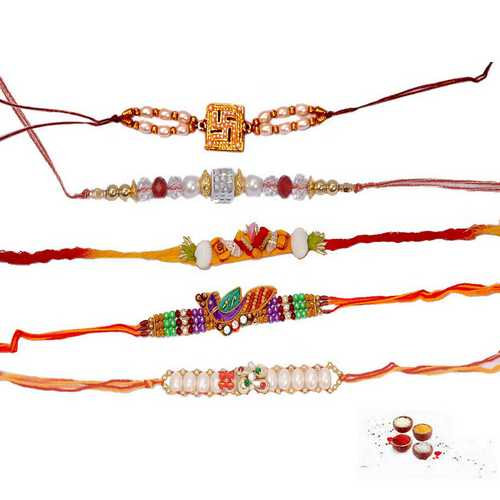 Designer Rakhi Threads - Set of 5