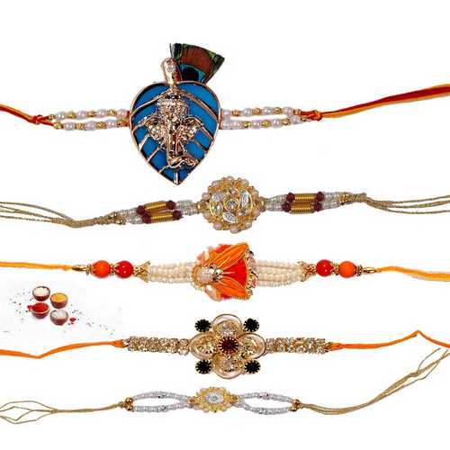 Jeweled n Designer Rakhis - Set of 5