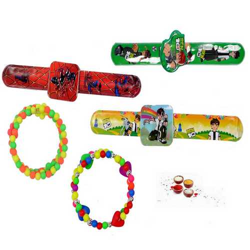Beads Rakhis N Kids Rakhis - Set of 5