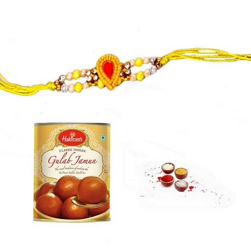 Auspicious Yellow Thread n Gulab Jamun