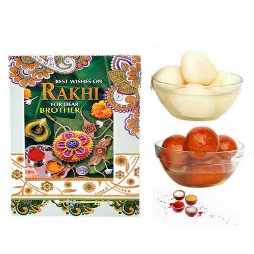 Sweets n Rakhi Card Hamper