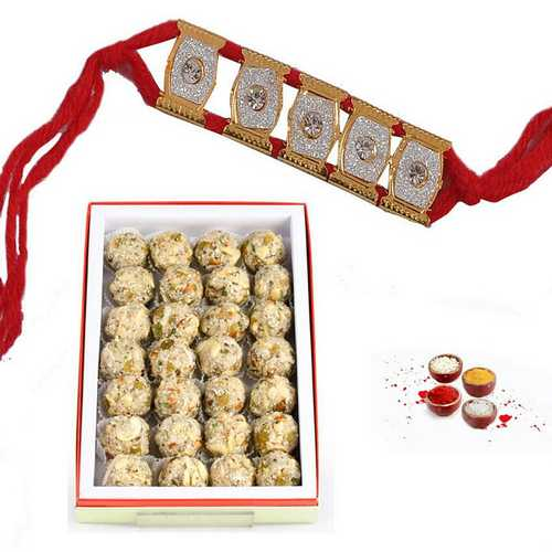 Coconut Dry Fruits Laddu Rakhi Delights