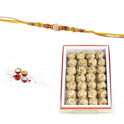 Coconut Mewa Laddu Rakhi Surprise