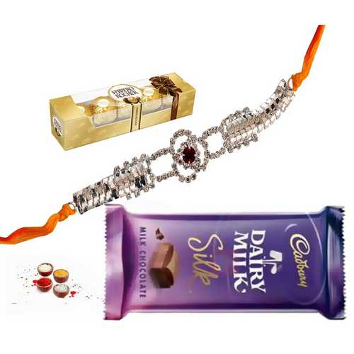 Premium Rakhi n Chocolates Surprise