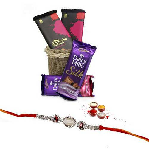 Premium Rakhi with Choco Delights