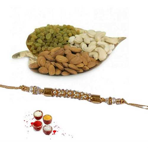 Dry Fruits N Golden Rakhi