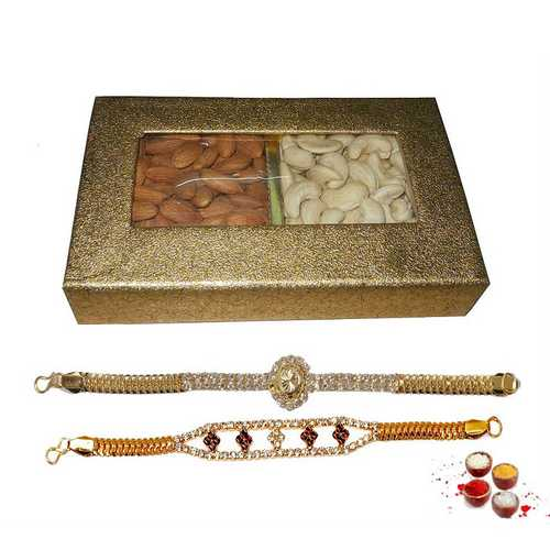 Premium Bracelet Rakhis with Cashew N Almonds