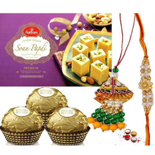Lumba Rakhi Set with Sweets