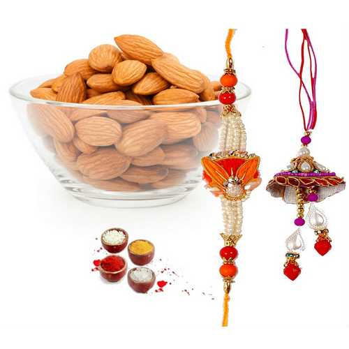 Lumba Rakhi Set with Crunchy Almonds
