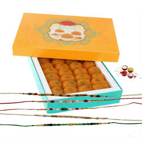 Rakhi Threads with Laddu