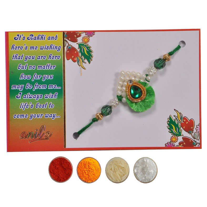 Pearl Fancy Rakhi for Bhaiya