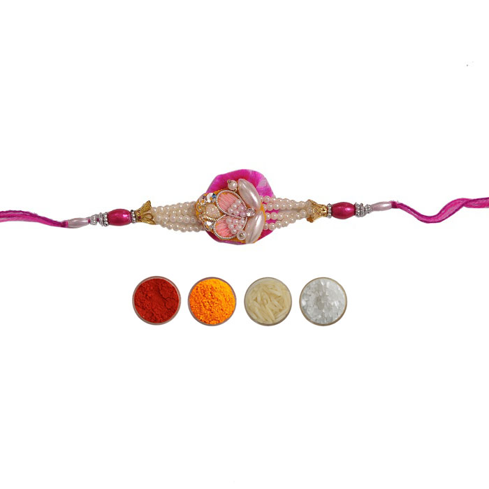 Designer Rakhi with Pearls