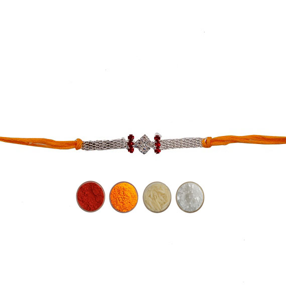 Silver Fancy Rakhi