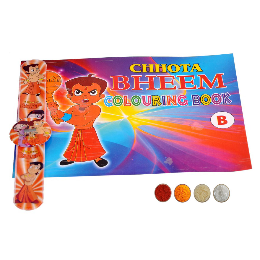 Chhota Bheem Rakhi with Coloring Book