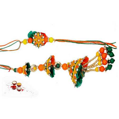 Multicolor Bhaiya and Bhabhi Ki Rakhi