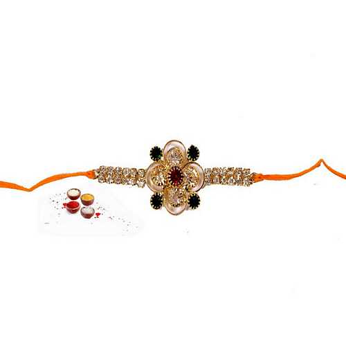 Jeweled Designer Kundan Rakhi