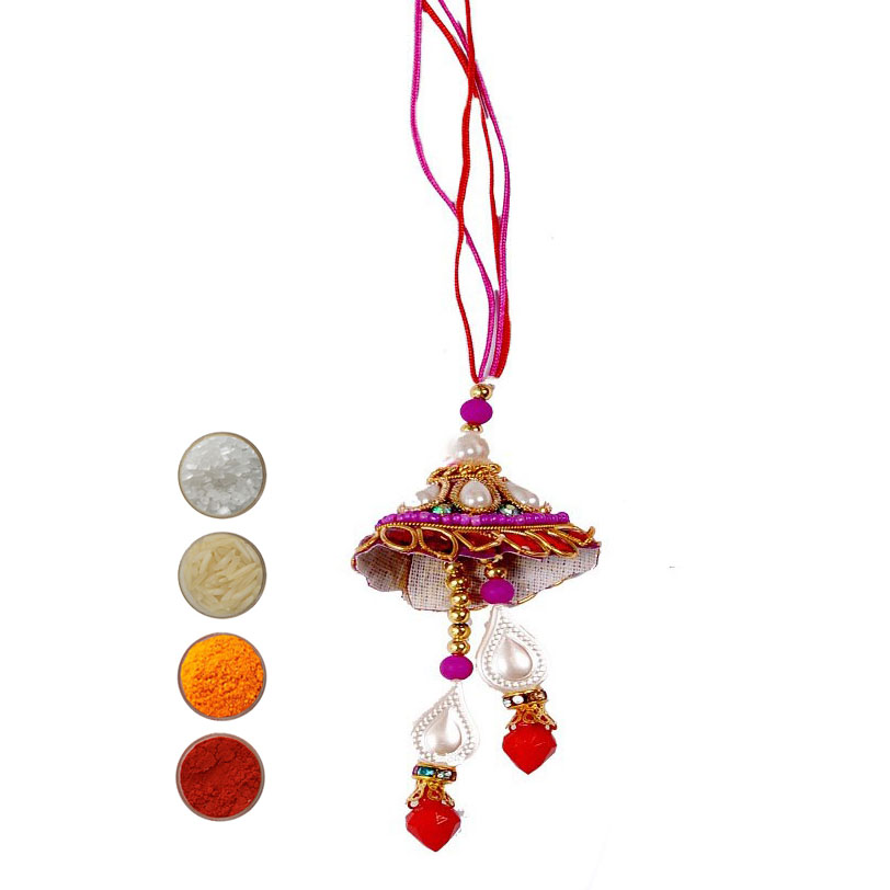 Fancy Lumba Rakhi for Bhabhi