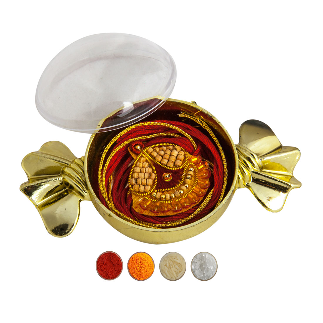 Pure Chandan Rakhi with Holder