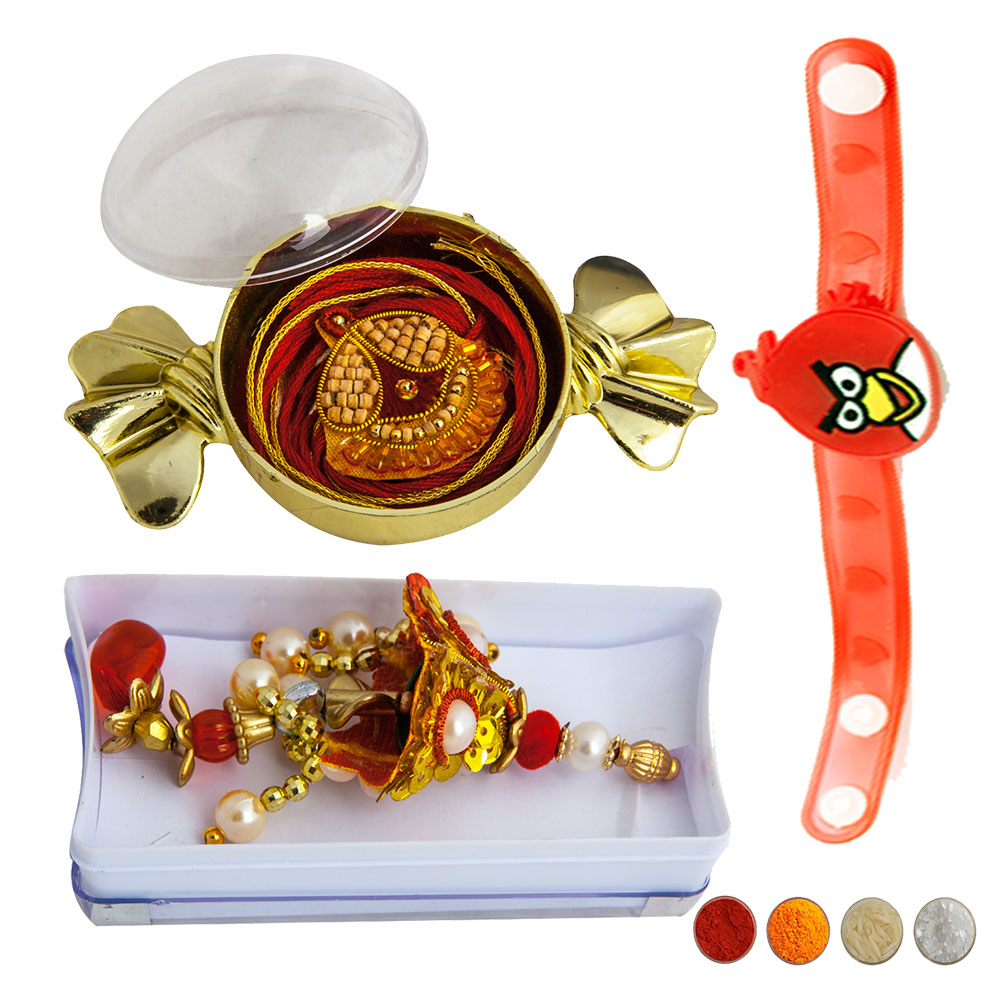 Designer Family Rakhi Set