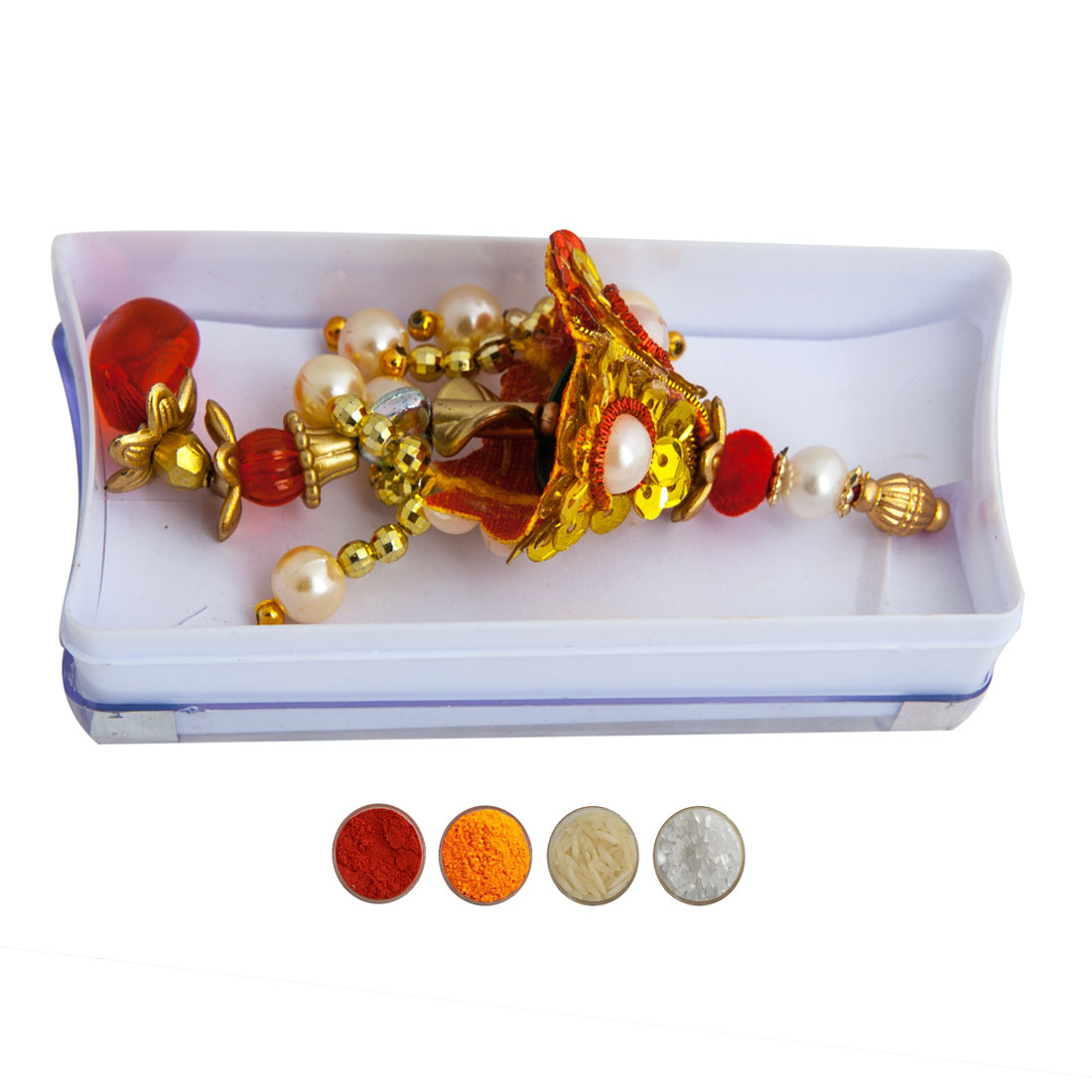 Pearl and Beads Lumba Rakhi