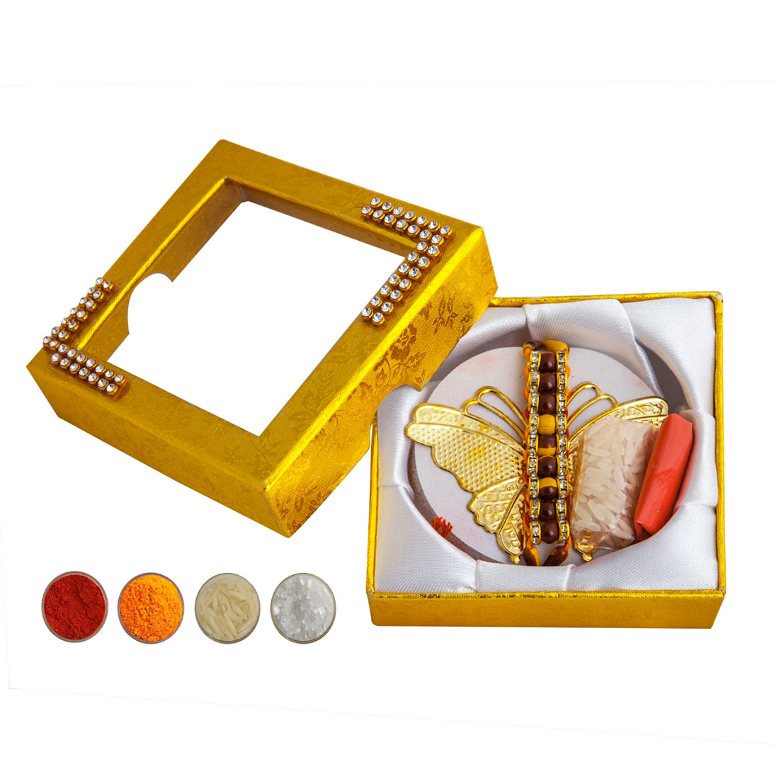 Golden Butterfly Rakhi