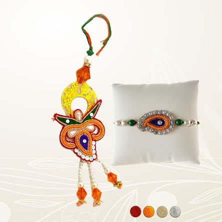 Fancy Bhaiya Bhabhi Rakhi Set