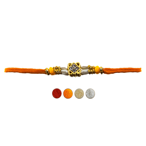 Designer Pearl and Beads Rakhi