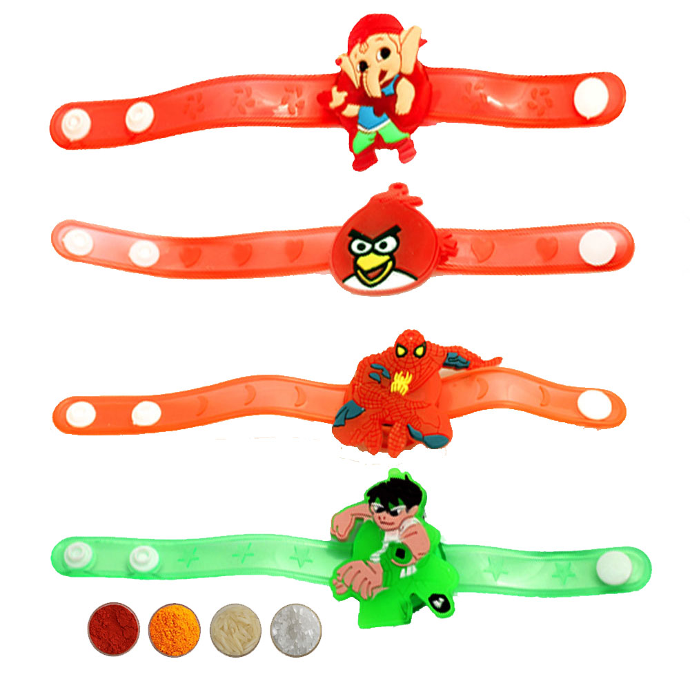Cartoon Character Rakhi Set