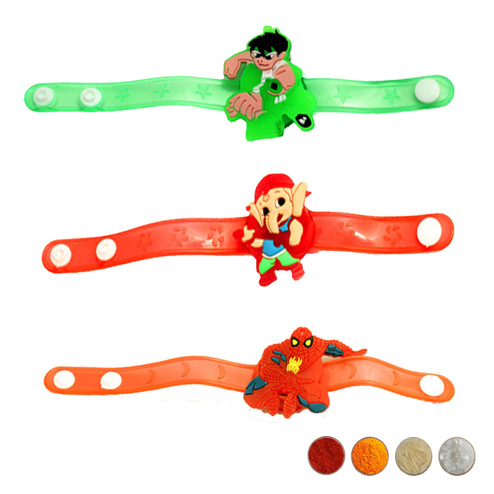 Special Cartoon kid's Rakhi Set of Three