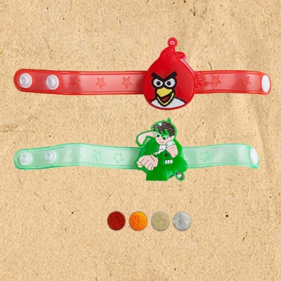 Fancy Kids Rakhi Band Set