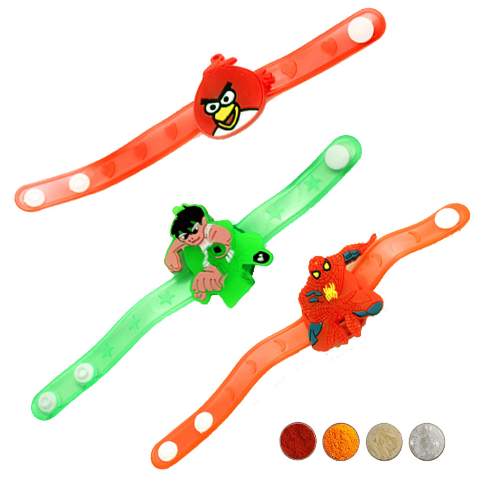Set of Three Kid's Rakhi