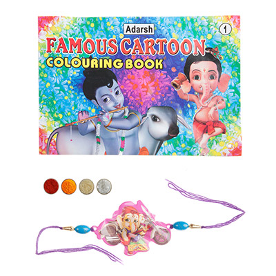 Bal Ganesha Rakhi with Coloring Book