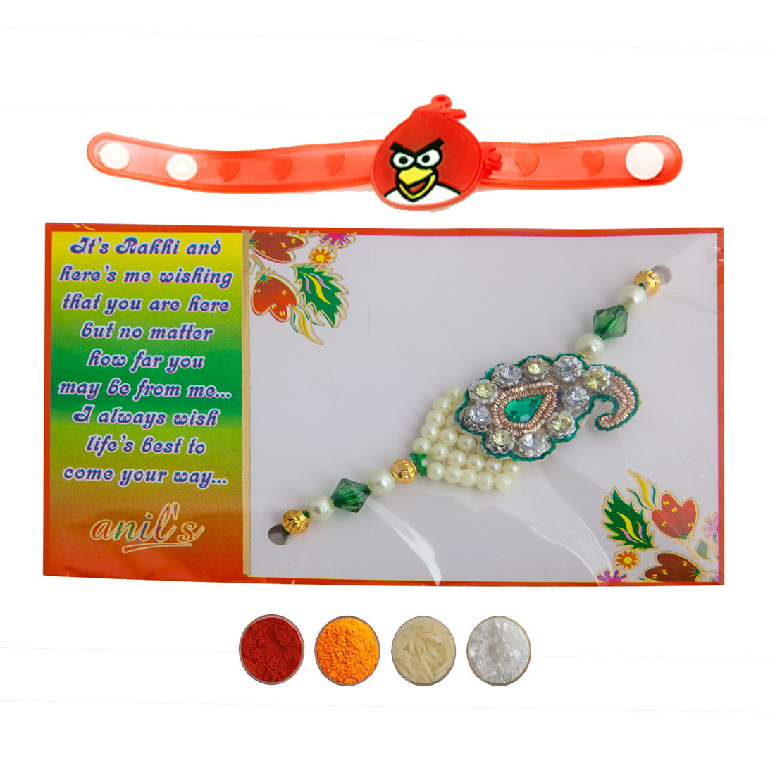 Designer Rakhi and Kid's Rakhi Set