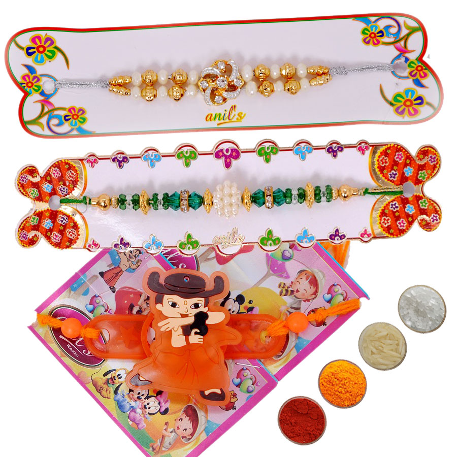 Fancy Rakhi Set of Three