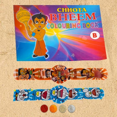Kids Rakhi Set with Digital Watch