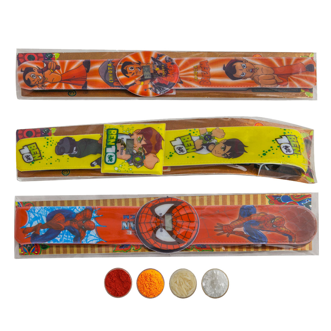 Digital Clock Rakhi set of three for kids