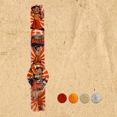 Chhota Bheem Digital Watch Rakhi Band