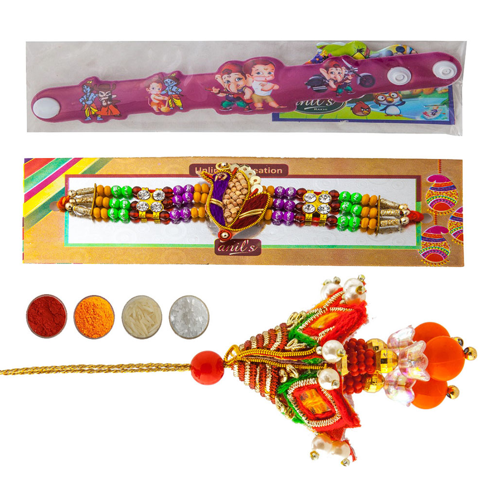 Precious Family Rakhi Set of Three