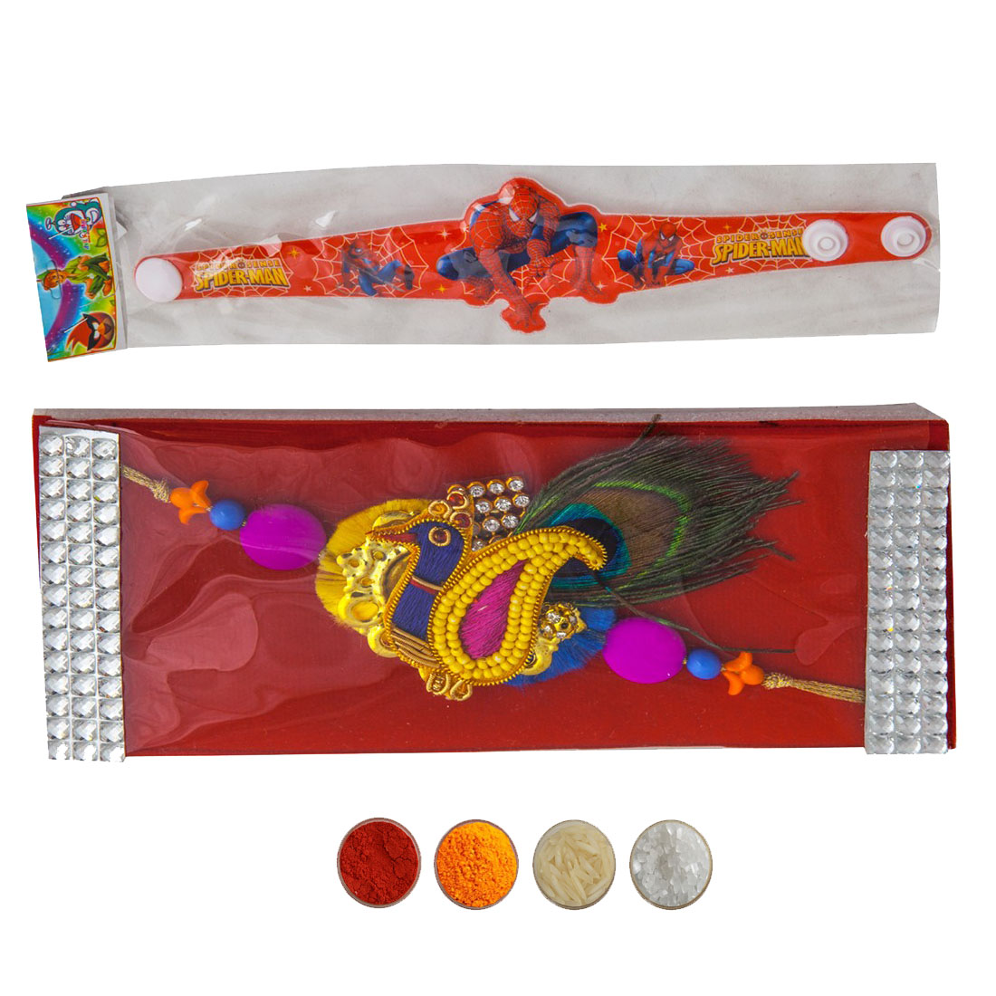 Fancy Rakhi with Kids Rakhi Set