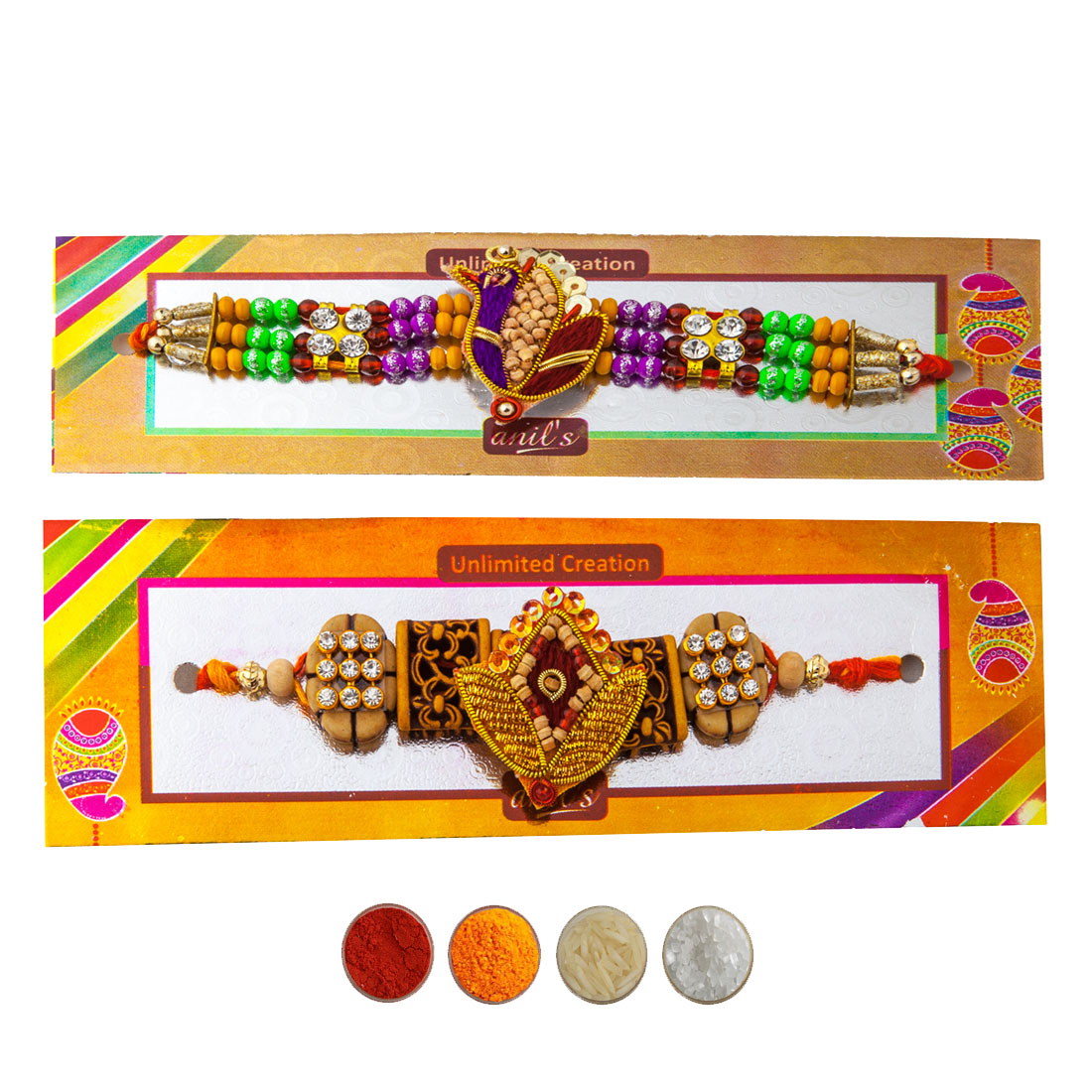 Pure Chandan Rakhi Set